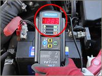 バッテリーの電圧測定